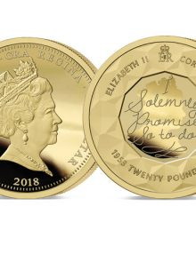 The 2018 Sapphire Coronation Jubilee Gold £20 Sovereign and free book