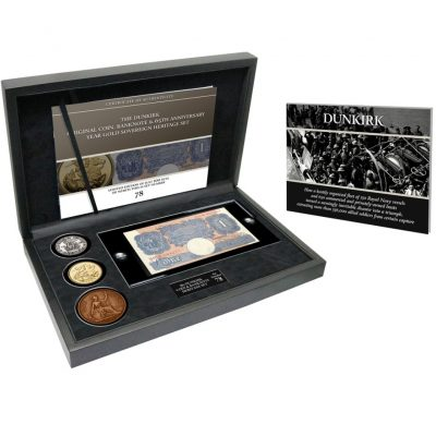 THe Dunkirk Original Coin, Banknote and 65th Anniversary Year Gold Sovereign Heritage