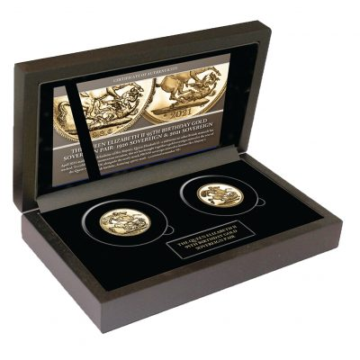 The Queen's 95th Birthday Gold Sovereign Pair of 1926 and 2021