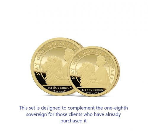 The 2021 Queen's 95th Birthday 24 Carat Gold Fractional Infill Sovereign Set