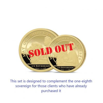 The 2021 Queen's 95th Birthday 24 Carat Gold Fractional Infill Sovereign Set SOLD OUT