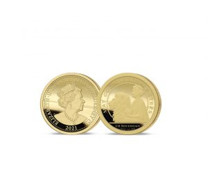 The 2021 Queen's 95th Birthday 24 Carat Gold One-Eighth Sovereign