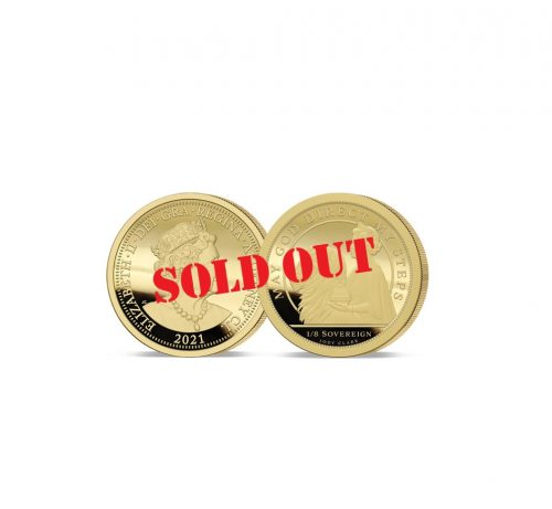The Queen's 95th Birthday Gold One Eighth Sovereign - SOLD OUT