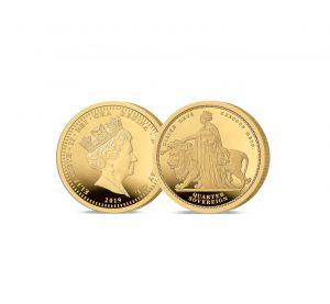 The Queen Victoria 24 Carat Gold Proof Quarter Sovereign