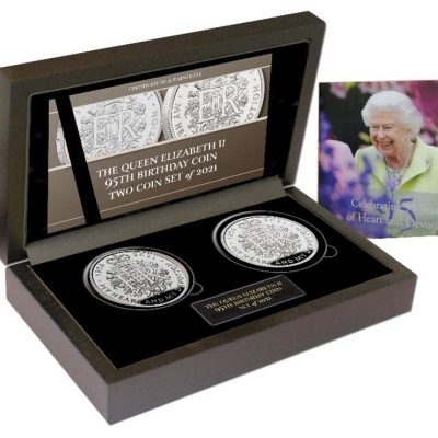 Queen Elizabeth II 2021 The 95th Birthday Commemorative Two Coin Set