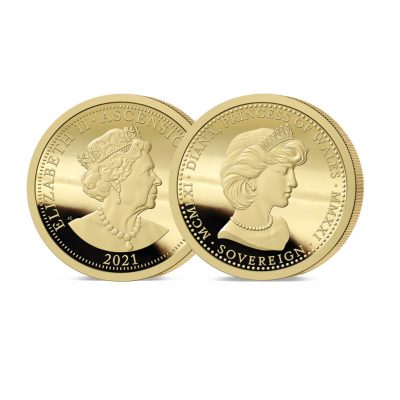 The 2021 Diana 60th Birthday Gold Sovereign