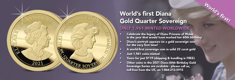 Diana 60th Birthday Quarter Sovereign