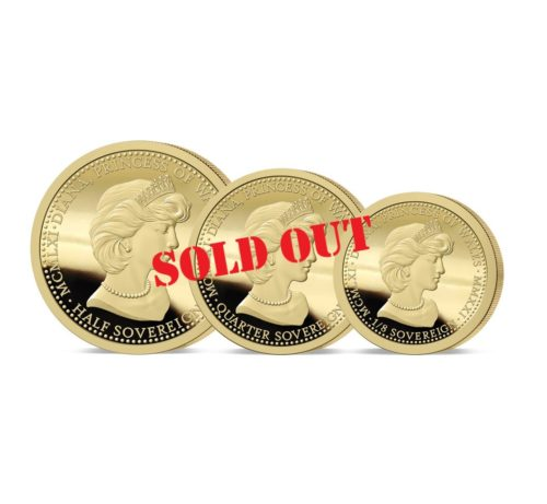The 2021 Diana 60th Birthday Gold Fractional Sovereign Set