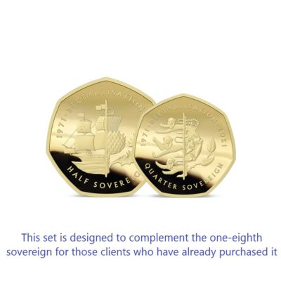 The 2021 50th Anniversary of Decimalisation Gold Fractional Infill Sovereign Set
