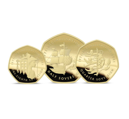 The 2021 50th Anniversary of Decimalisation Gold Fractional Sovereign Set