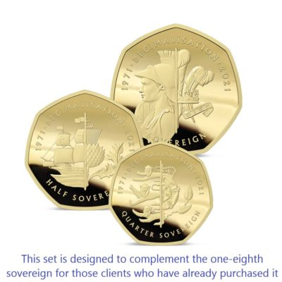 The 2021 50th Anniversary of Decimalisation Gold Prestige Infill Sovereign Set