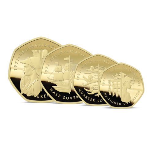 The 2021 50th Anniversary of Decimalisation Gold Prestige Sovereign Proof Set