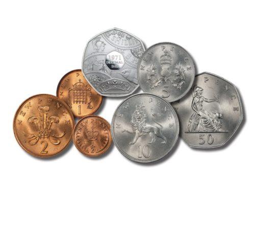 Queen Elizabeth II 1971-2021 Decimalisation 50th Anniversary Set - Mint State