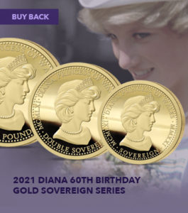 Diana 60th Birthday Gold Sovereign Range Buy Back Offers